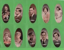 "Tobacco cigarette cards Popular Personalities ""Oval"